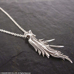 Wing necklace.