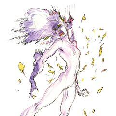 Yoshitaka Amano artwork of Terra in Esper form.