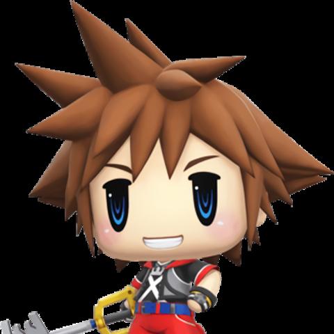 Sora in <i>World of Final Fantasy</i>.