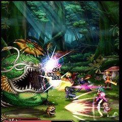An early version battle screenshot.