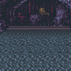 Battle background (Cave 2) (SNES).