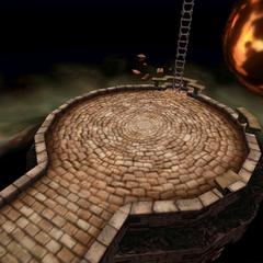 Battle background in Gaia's Birth.