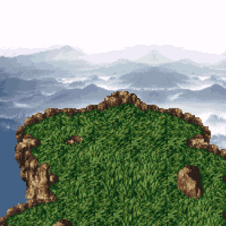The summit of Mt. Zozo (SNES).