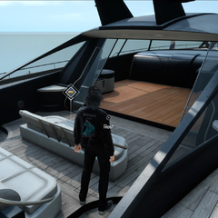 Descansando no navio real.