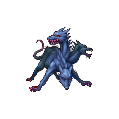 PSP sprite of Cerberus in <i>Final Fantasy</i> and <i>The After Years</i>.