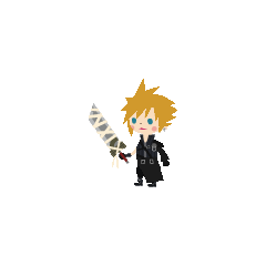 Костюм Клауда из <i>Kingdom Hearts II</i> в <i>Kingdom Hearts Mobile</i>.