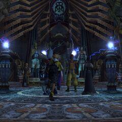 Inside Djose Temple in <i>Final Fantasy X</i>.