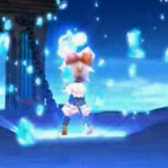 Sherlotta summoning crystals.