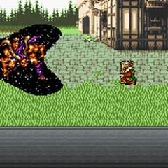 Kefka transforming an esper into a magicite.