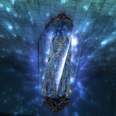 Mateus's Glyph inside a crystal in <i>Final Fantasy XII</i>.