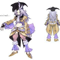 Kuja's fourth costume drawn by <a href=