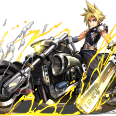Cloud with the Hardedge for <i>Puzzle & Dragons</i>.