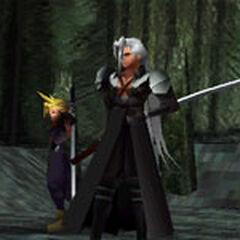 Sephiroth in combat.