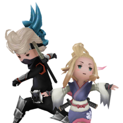 Ringabel and Edea as Ninjas in <i><a href=