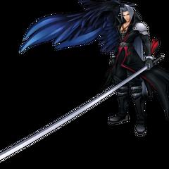 Sephiroth's <i>Kingdom Hearts</i> appearance render from <i>Dissidia 012 Final Fantasy</i>.