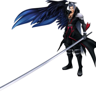 Sephiroth's DLC outfit.
