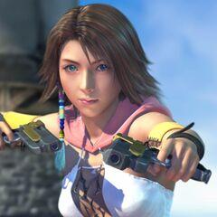 Yuna em um FMV no início do jogo.