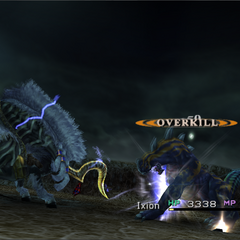 Ixion's regular attack.