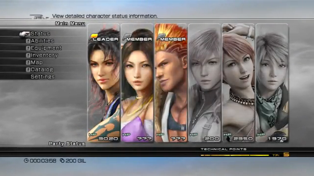 Menu (Final Fantasy XIII) | Final Fantasy Wiki | FANDOM