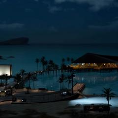Курорт ночью.