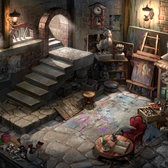 Artist's studio.