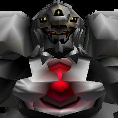 Close-up of Diamond Weapon's battle model.