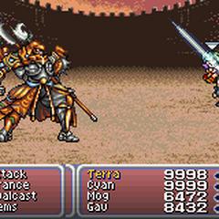 Batalha contra Gilgamesh <i>Final Fantasy VI</i>.
