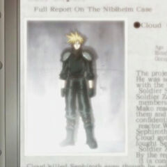 Cloud's profile in <i>Last Order</i>.