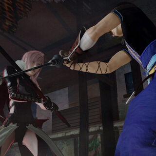 <i>Screenshot</i> antigo de Lightning e Noel confrontando-se.