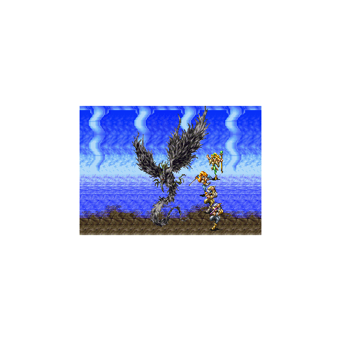 Garuda being summoned in <i>Bahamut Lagoon</i>.