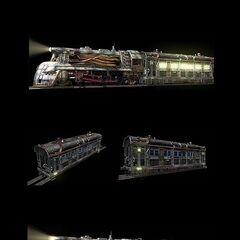 Рендеры поезда в <i>Final Fantasy VII</i>.