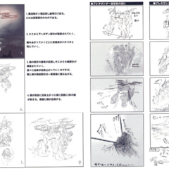 Storyboard of Alexander's summoning.