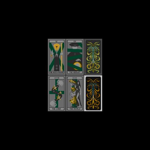 The tarot cards.