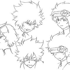 Face sketches.