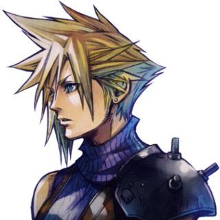 Cloud's portrait.