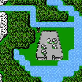 Crescent Lake on the World Map (NES).