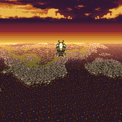 The Falcon's appearance on the world map. (GBA).