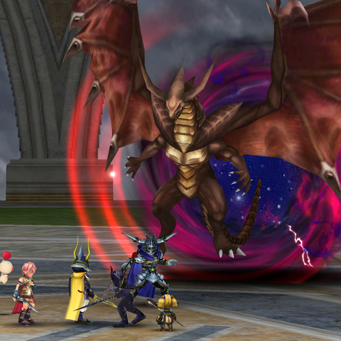 Dark Bahamut emerges from a Torsion that has gone critical.