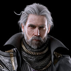 A portrait of Regis from the Japanese <i>Kingsglaive: Final Fantasy XV</i> website.