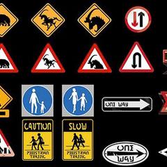 Traffic signs.