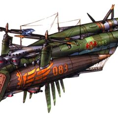 Concept artwork of the Lindblum battle ship, the <i>Viltgance</i>.