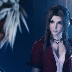Aerith and Cloud in the <a href=