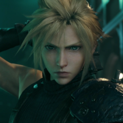 Cloud after jumping off the train.