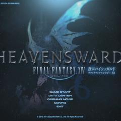 Pantalla de título de <i>Heavensward</i>.