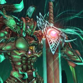 Genesis Avatar's sword with the Materia.