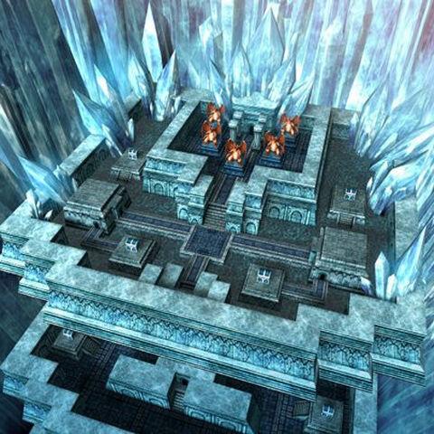 Torre de Cristal em <i>Dragon Quest & Final Fantasy in Itadaki Street Portable</i>.