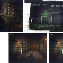 Steelworks underground passage.
