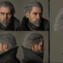 Renders of King Regis's crown, head, and shoulders.