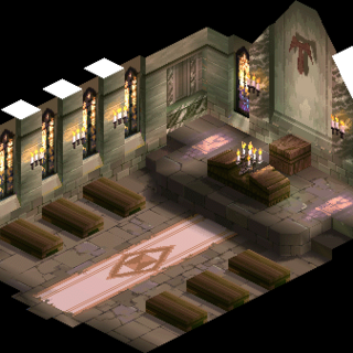 A church inside Zeltennia, where Ramza and Delita meet up.