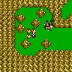 Falgabard on the world map (NES).